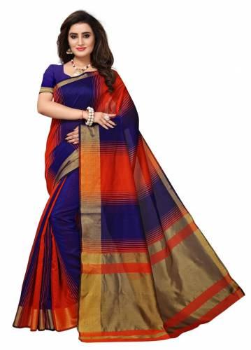 36dd19df4ae20 Ashas-Plain-stripped-art-silk-saree-Multicolor details